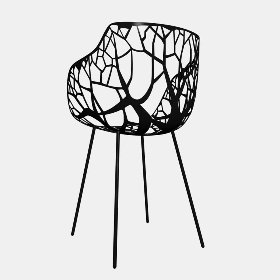 mesh chair royalty-free 3d model - Preview no. 3