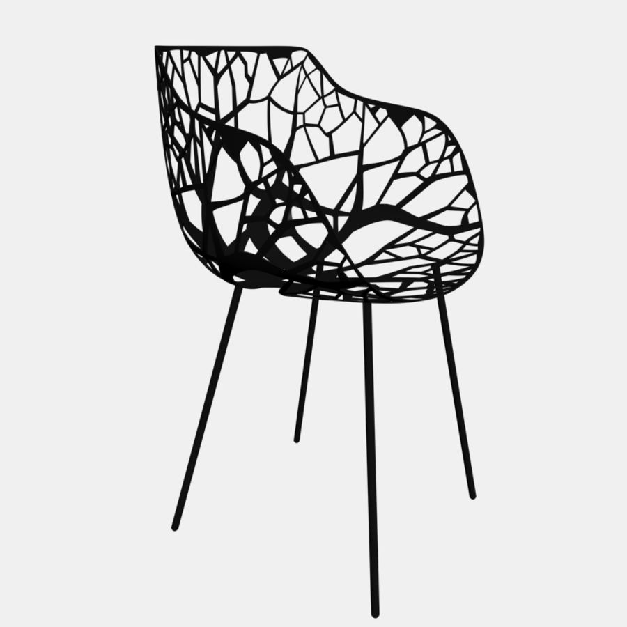 mesh chair royalty-free 3d model - Preview no. 6
