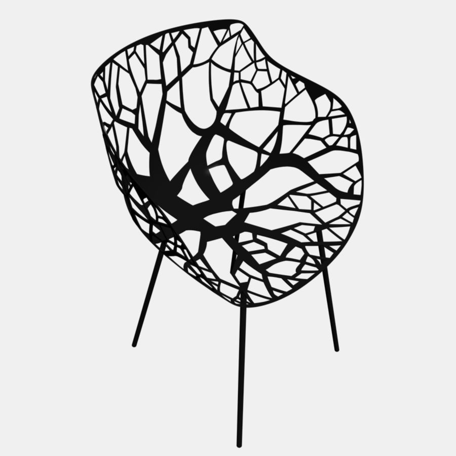 mesh chair royalty-free 3d model - Preview no. 2