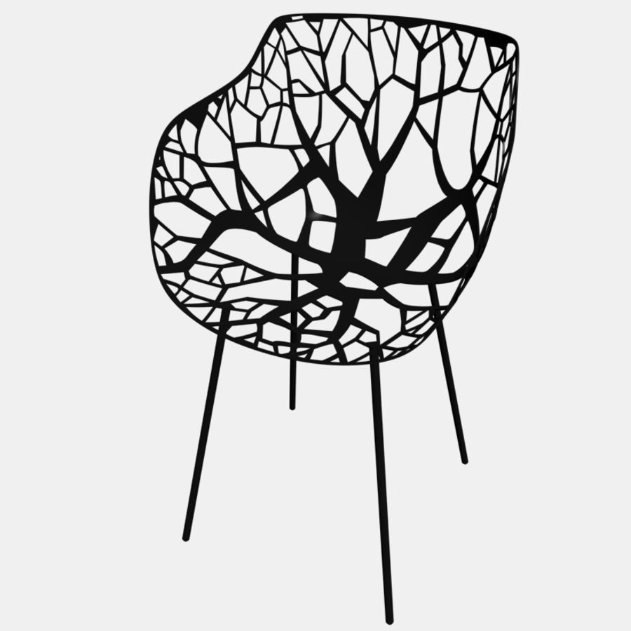 mesh chair royalty-free 3d model - Preview no. 4