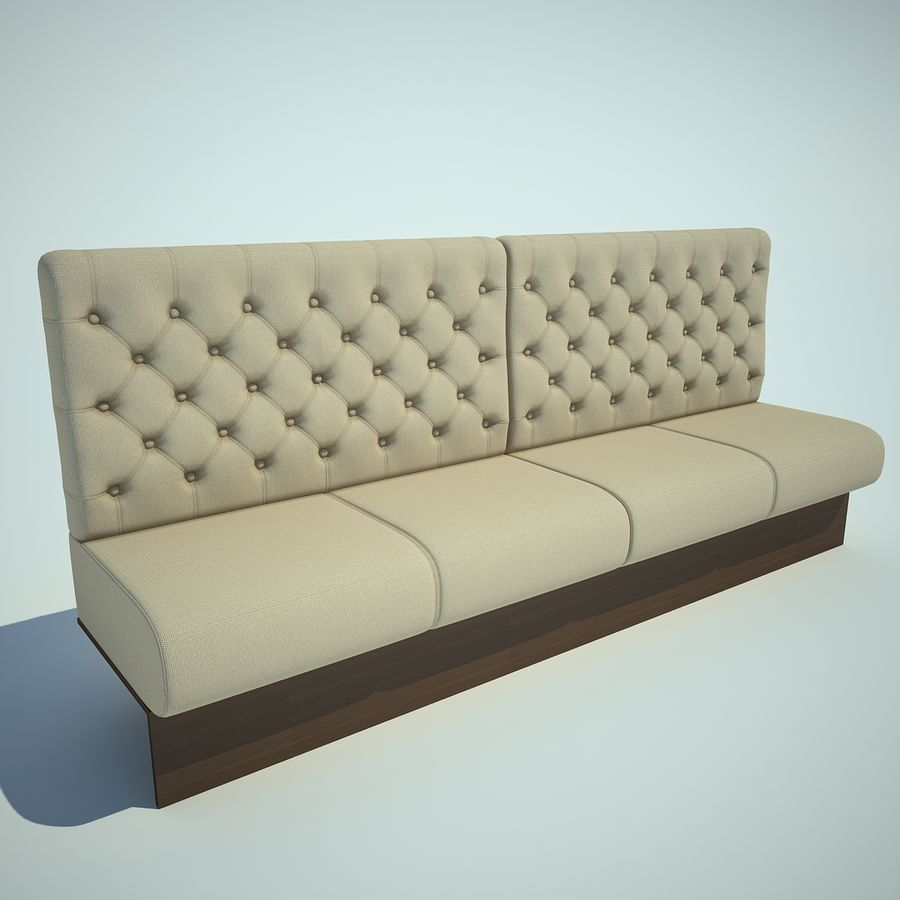 Sofa Bar Royalty Free 3d Model Preview No 1
