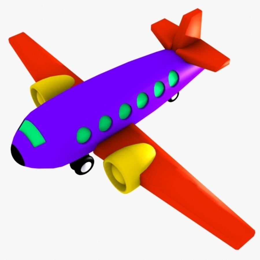 Airplane Toy_02 royalty-free 3d model - Preview no. 1