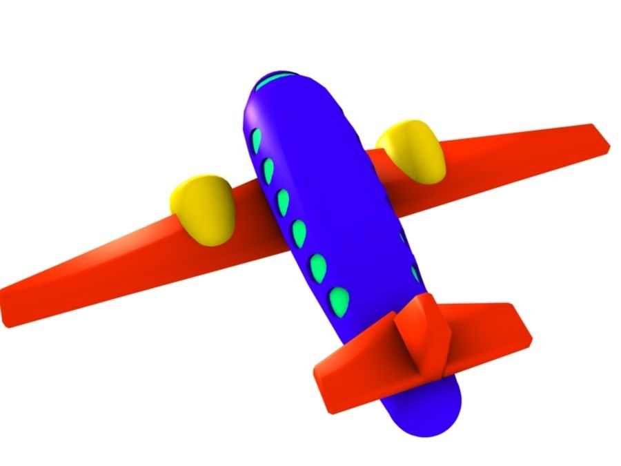 Airplane Toy_02 royalty-free 3d model - Preview no. 5