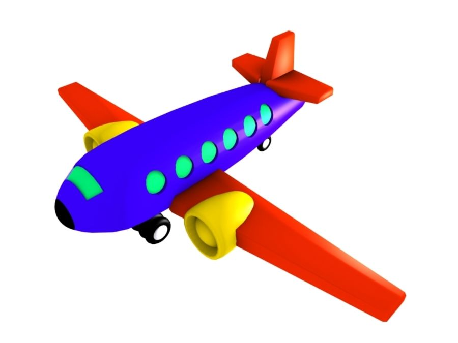 Airplane Toy_02 royalty-free 3d model - Preview no. 6