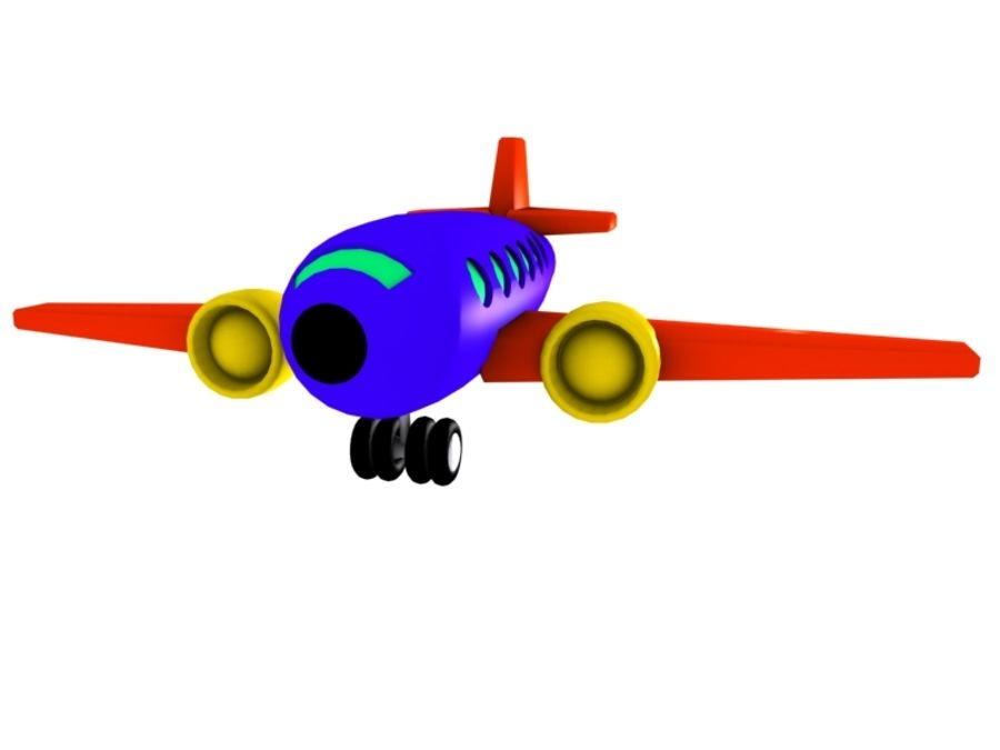 Airplane Toy_02 royalty-free 3d model - Preview no. 7