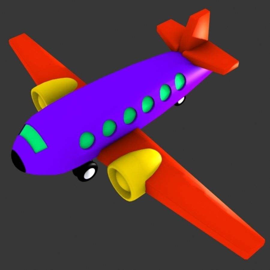 Airplane Toy_02 royalty-free 3d model - Preview no. 2
