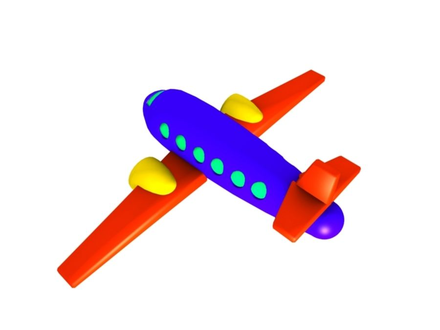 Airplane Toy_02 royalty-free 3d model - Preview no. 4