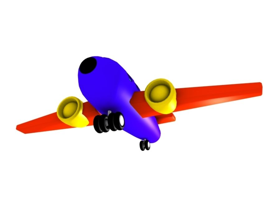 Airplane Toy_02 royalty-free 3d model - Preview no. 3