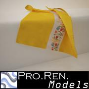 Towel - Yellow 3d model