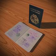 Tongan passport 3d model