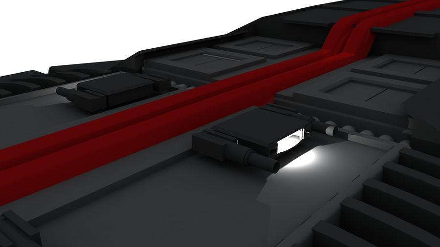 Battlestar Titan royalty-free 3d model - Preview no. 8