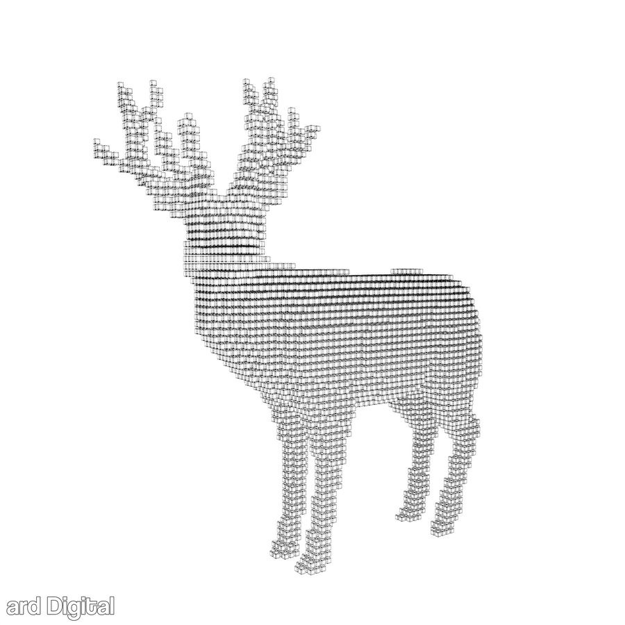 Pixel Reindeer royalty-free 3d model - Preview no. 5