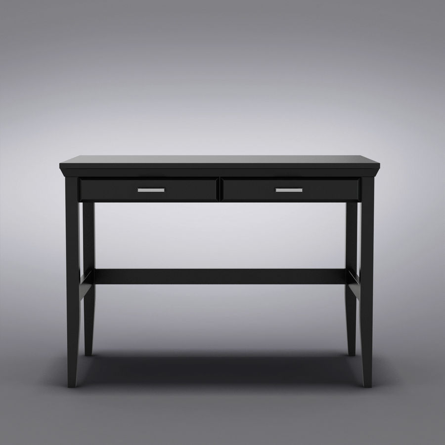 Sandık ve Varil - Paterson Black Desk royalty-free 3d model - Preview no. 4