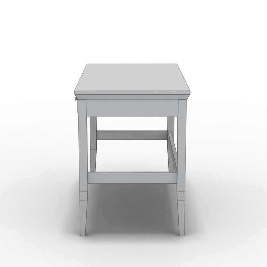 Sandık ve Varil - Paterson Black Desk royalty-free 3d model - Preview no. 5