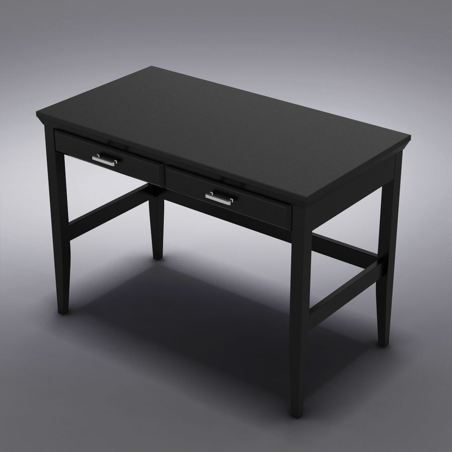 Sandık ve Varil - Paterson Black Desk royalty-free 3d model - Preview no. 10