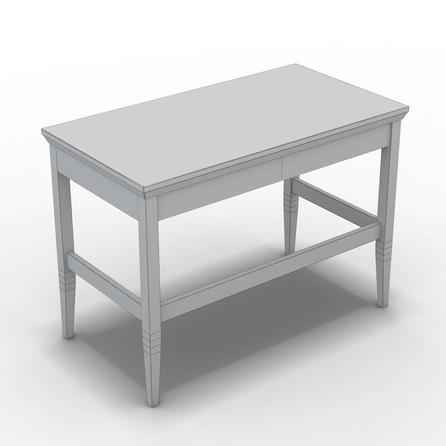 Sandık ve Varil - Paterson Black Desk royalty-free 3d model - Preview no. 7
