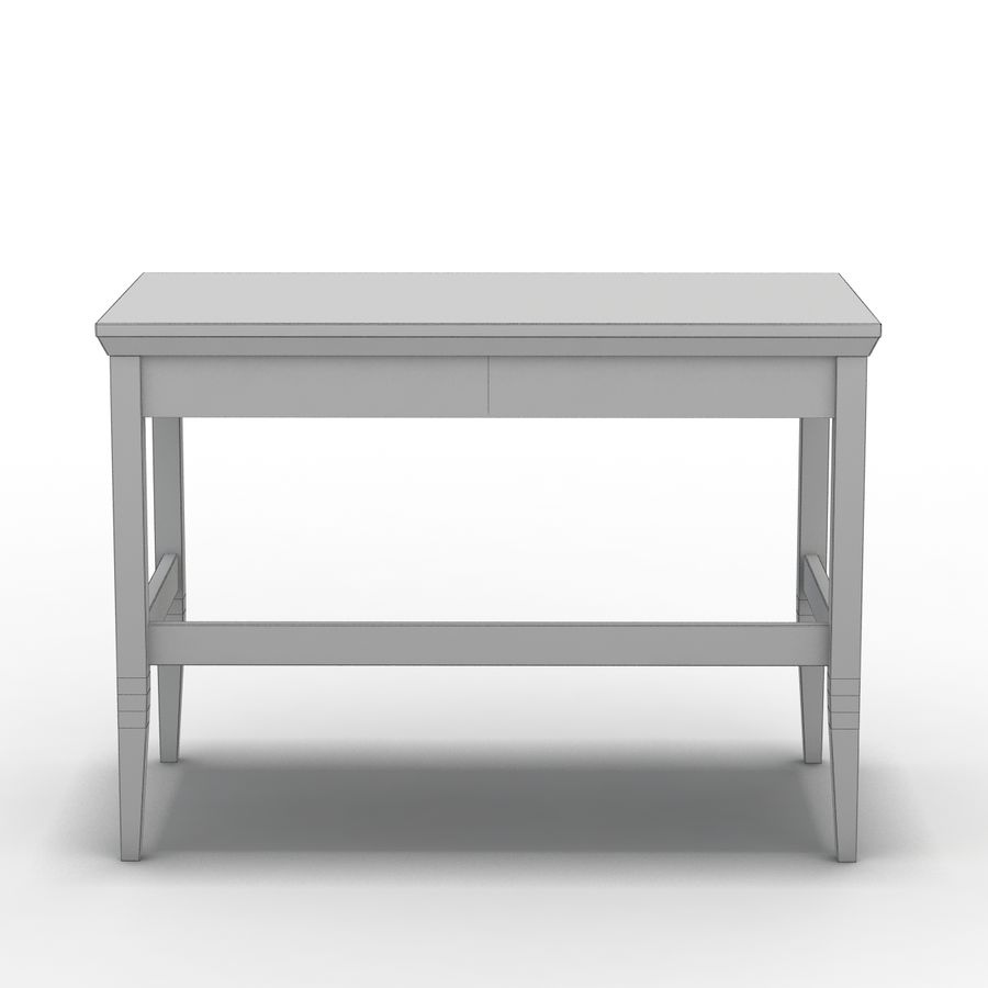 Sandık ve Varil - Paterson Black Desk royalty-free 3d model - Preview no. 11