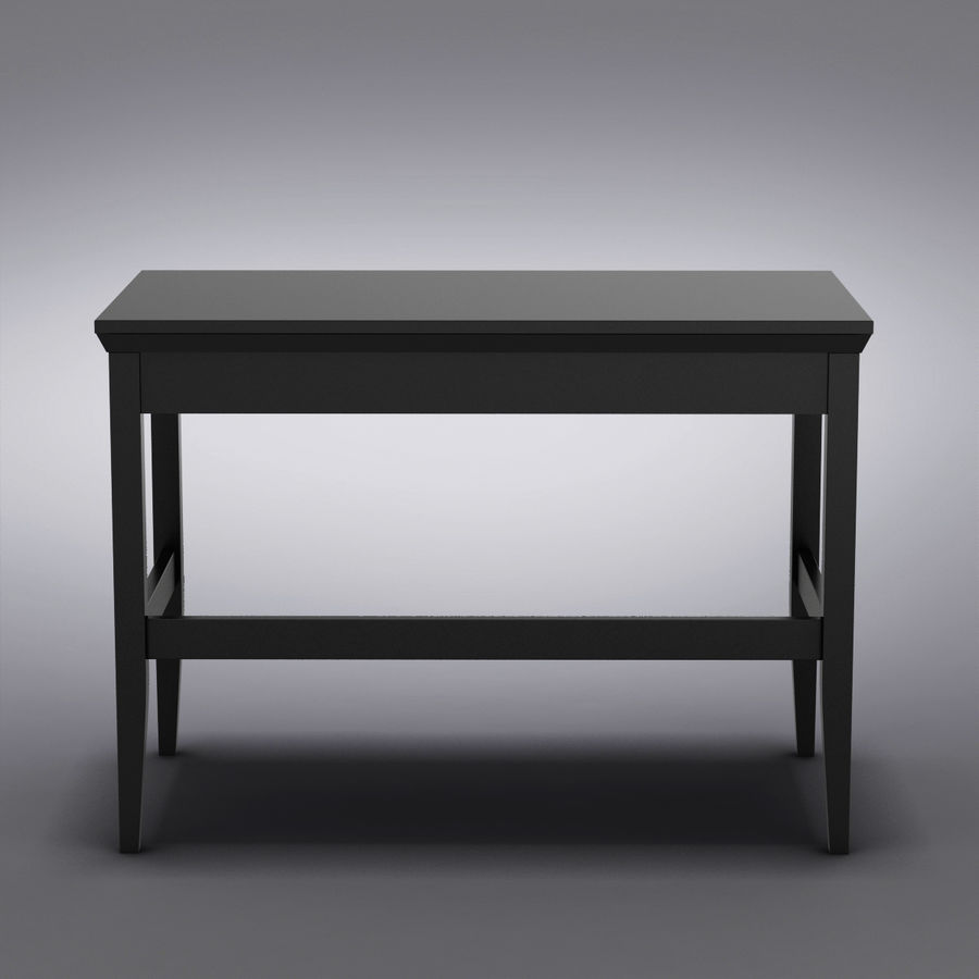 Sandık ve Varil - Paterson Black Desk royalty-free 3d model - Preview no. 12