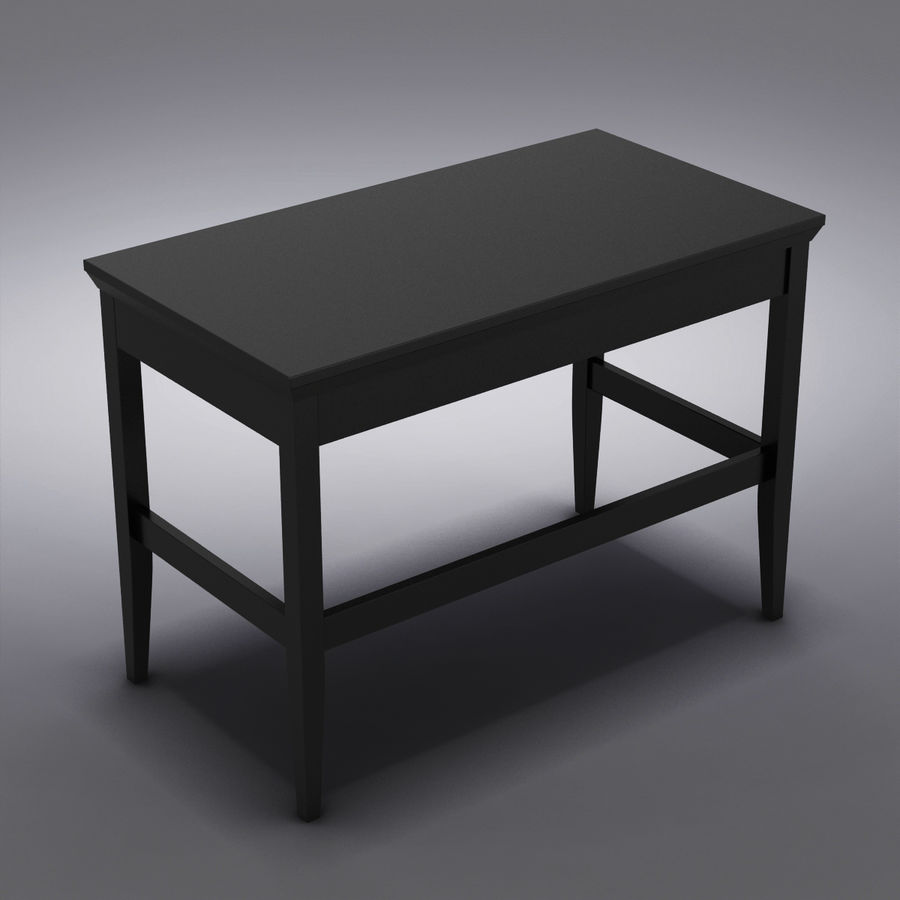 Sandık ve Varil - Paterson Black Desk royalty-free 3d model - Preview no. 8
