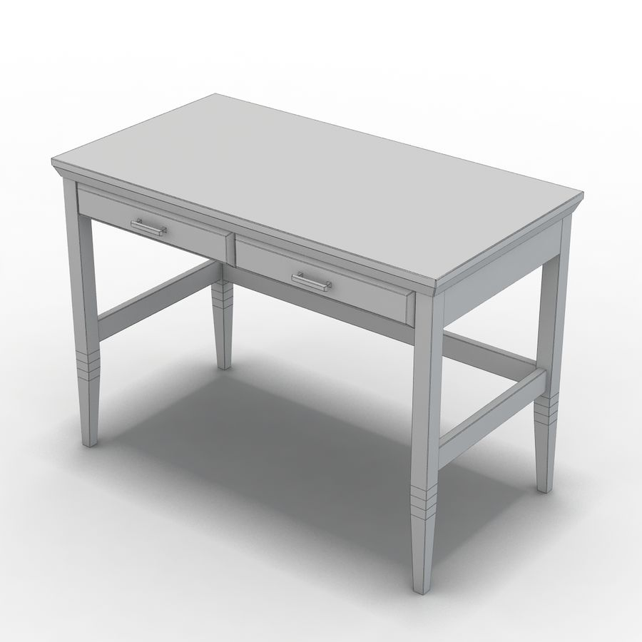 Sandık ve Varil - Paterson Black Desk royalty-free 3d model - Preview no. 9