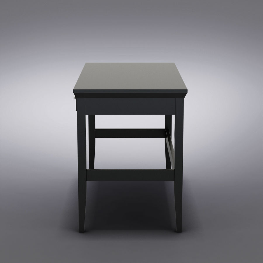 Sandık ve Varil - Paterson Black Desk royalty-free 3d model - Preview no. 6