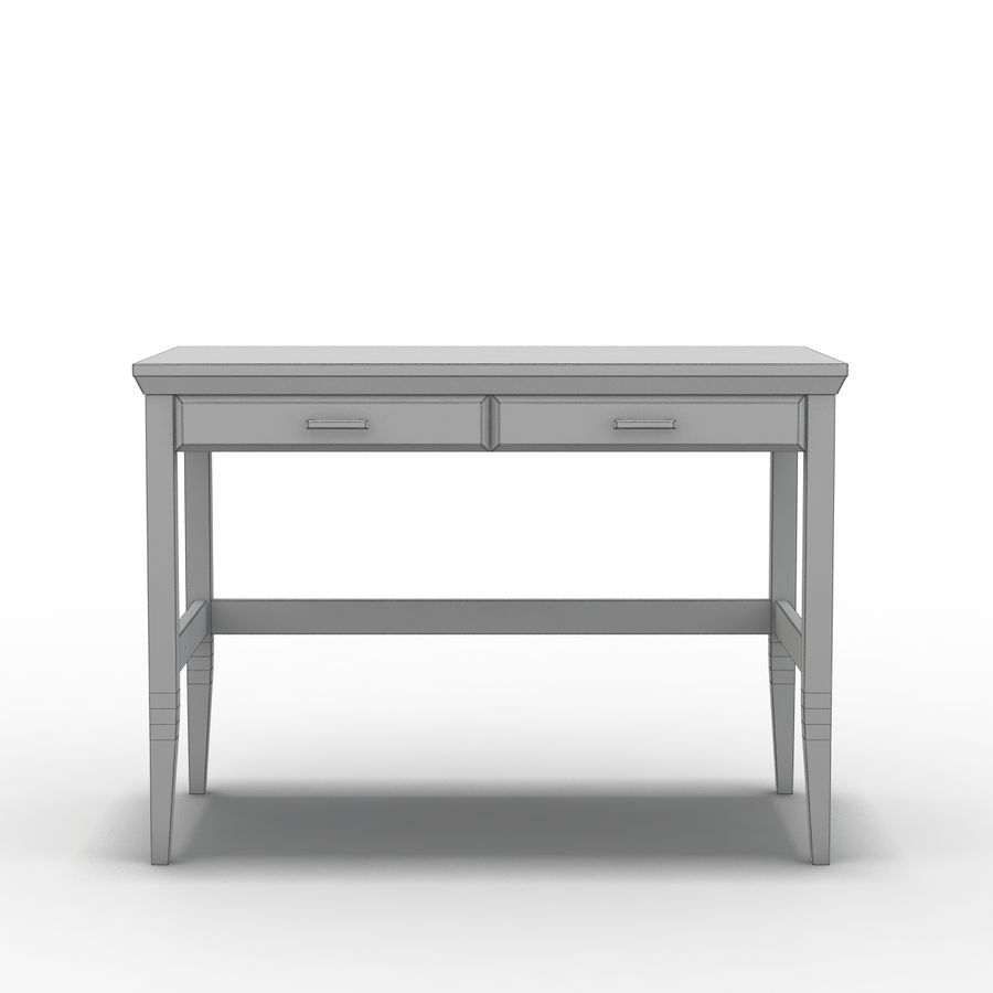 Sandık ve Varil - Paterson Black Desk royalty-free 3d model - Preview no. 3