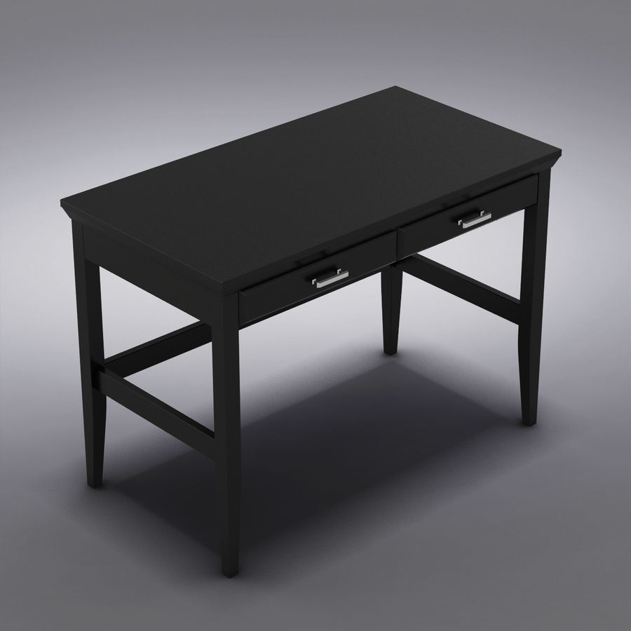 Sandık ve Varil - Paterson Black Desk royalty-free 3d model - Preview no. 1