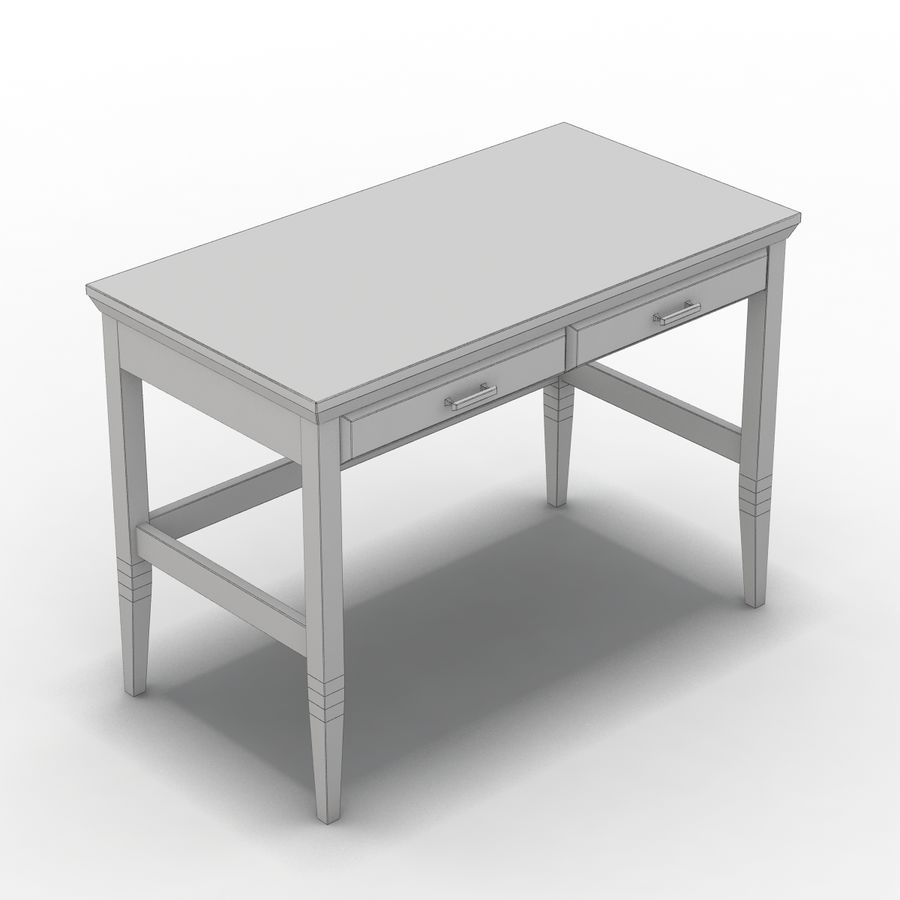 Sandık ve Varil - Paterson Black Desk royalty-free 3d model - Preview no. 2