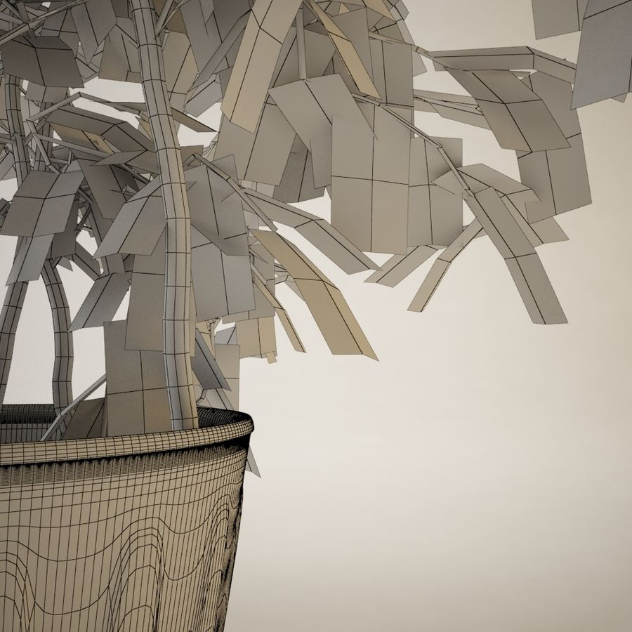 Plant for architectural interiors type I royalty-free 3d model - Preview no. 5