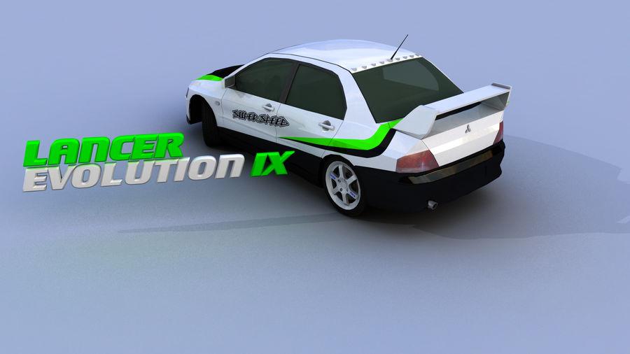 Mitsubishi Lancer Evolution IX Gamemodel royalty-free 3d model - Preview no. 2
