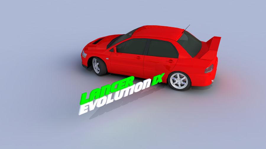 Mitsubishi Lancer Evolution IX Gamemodel royalty-free 3d model - Preview no. 4