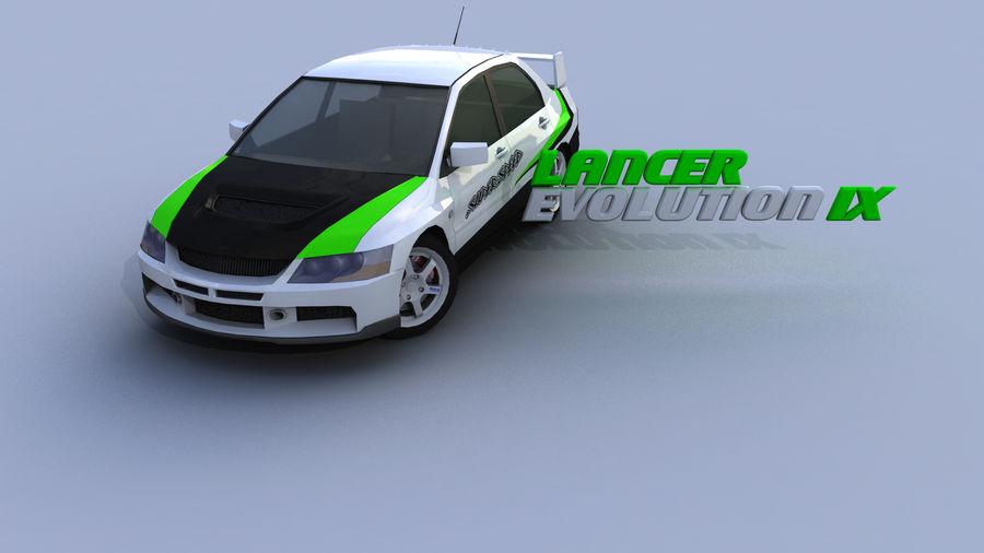 Mitsubishi Lancer Evolution IX Gamemodel royalty-free 3d model - Preview no. 1