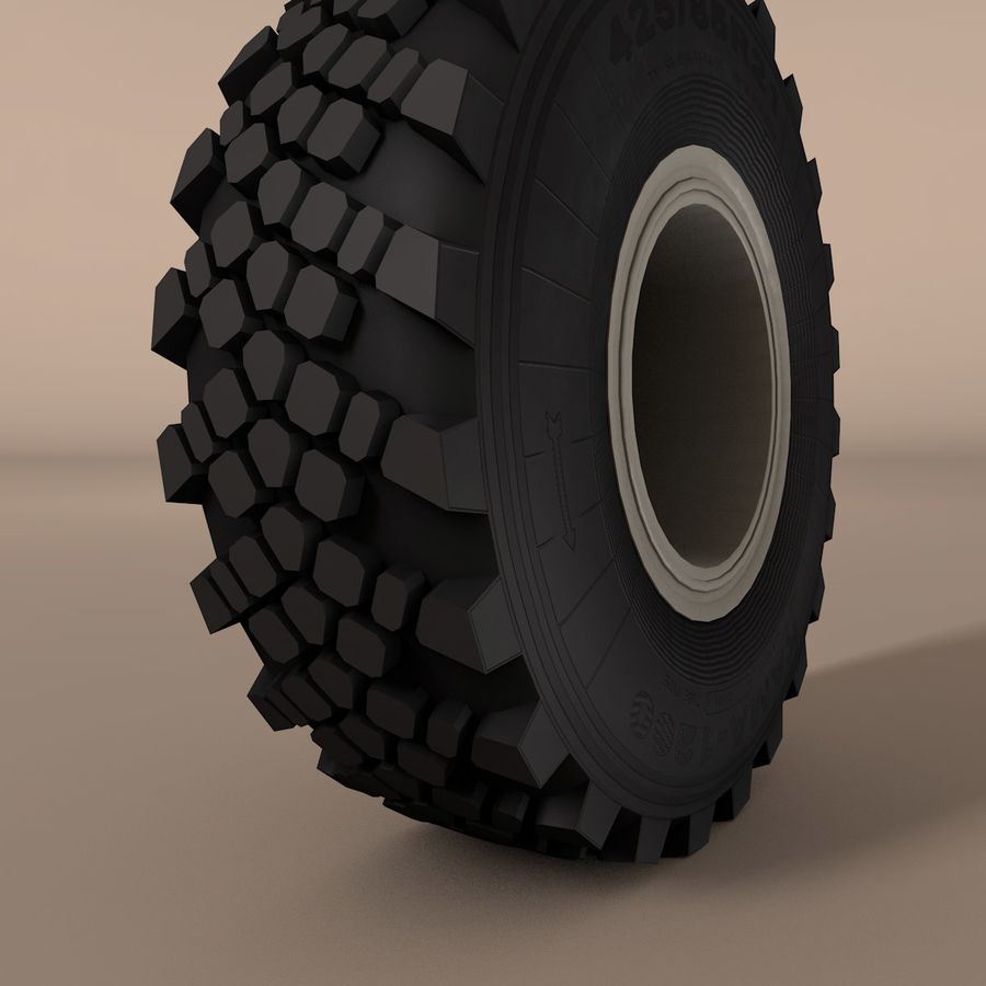 KAMAZ Radlastwagen royalty-free 3d model - Preview no. 8