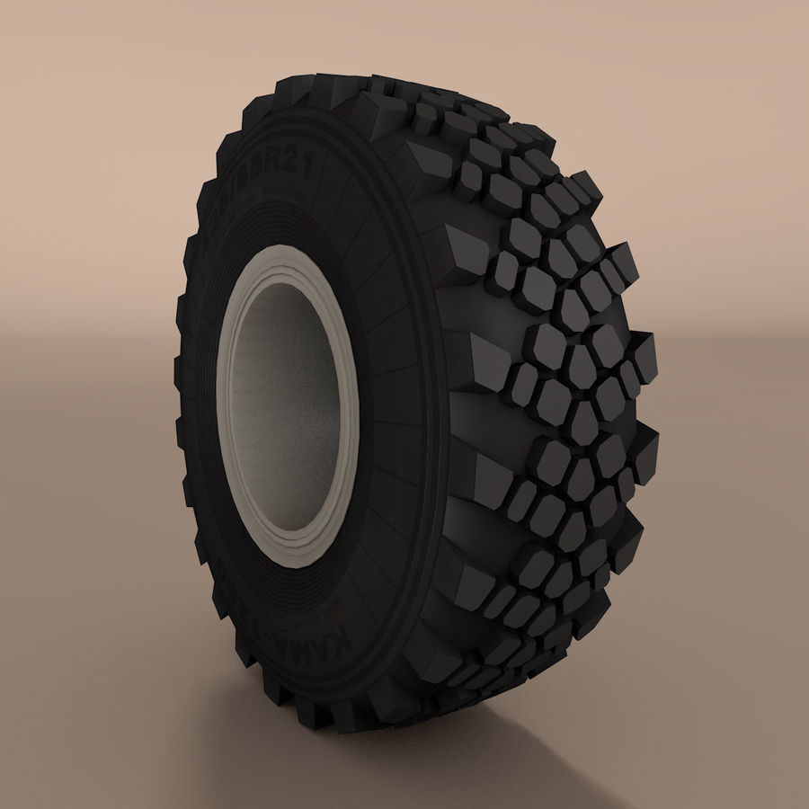 KAMAZ Radlastwagen royalty-free 3d model - Preview no. 4