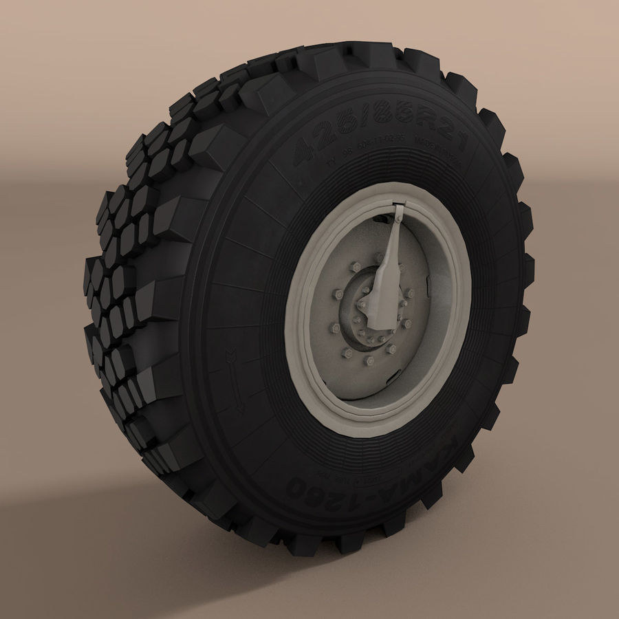 KAMAZ Radlastwagen royalty-free 3d model - Preview no. 1