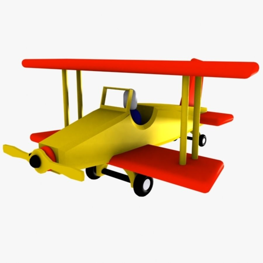 Airplane Toy_01 royalty-free 3d model - Preview no. 1