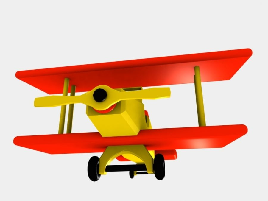 Airplane Toy_01 royalty-free 3d model - Preview no. 5