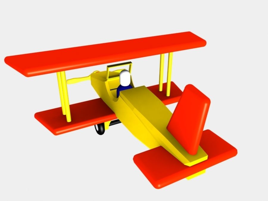Airplane Toy_01 royalty-free 3d model - Preview no. 4