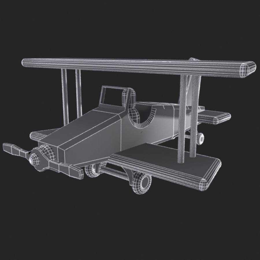 Airplane Toy_01 royalty-free 3d model - Preview no. 8