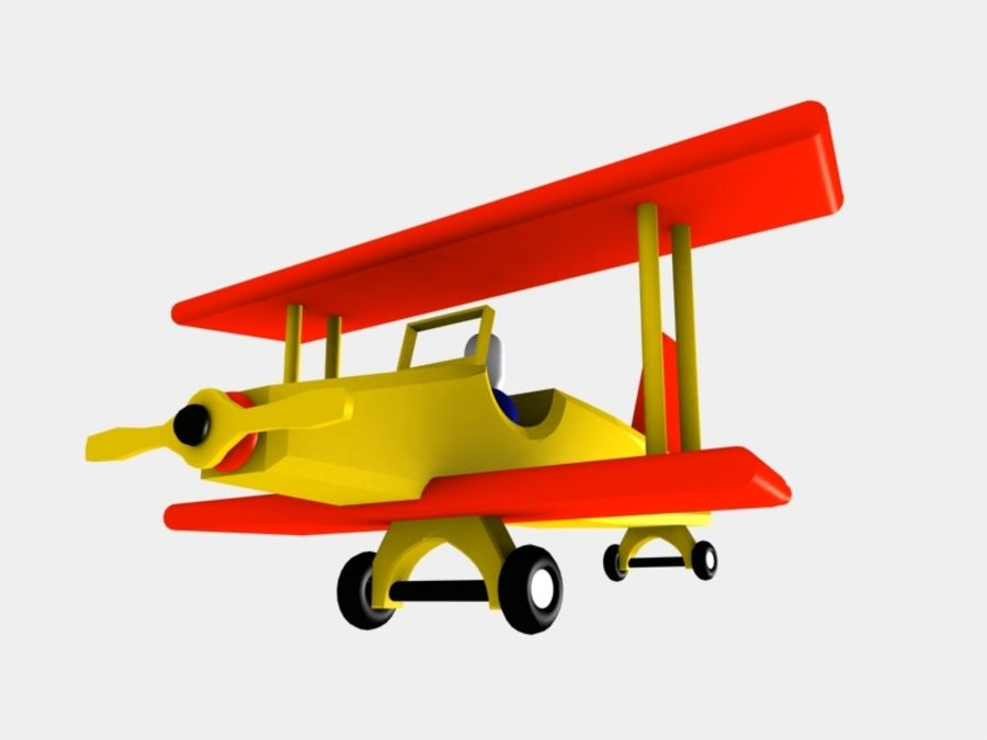 Airplane Toy_01 royalty-free 3d model - Preview no. 6