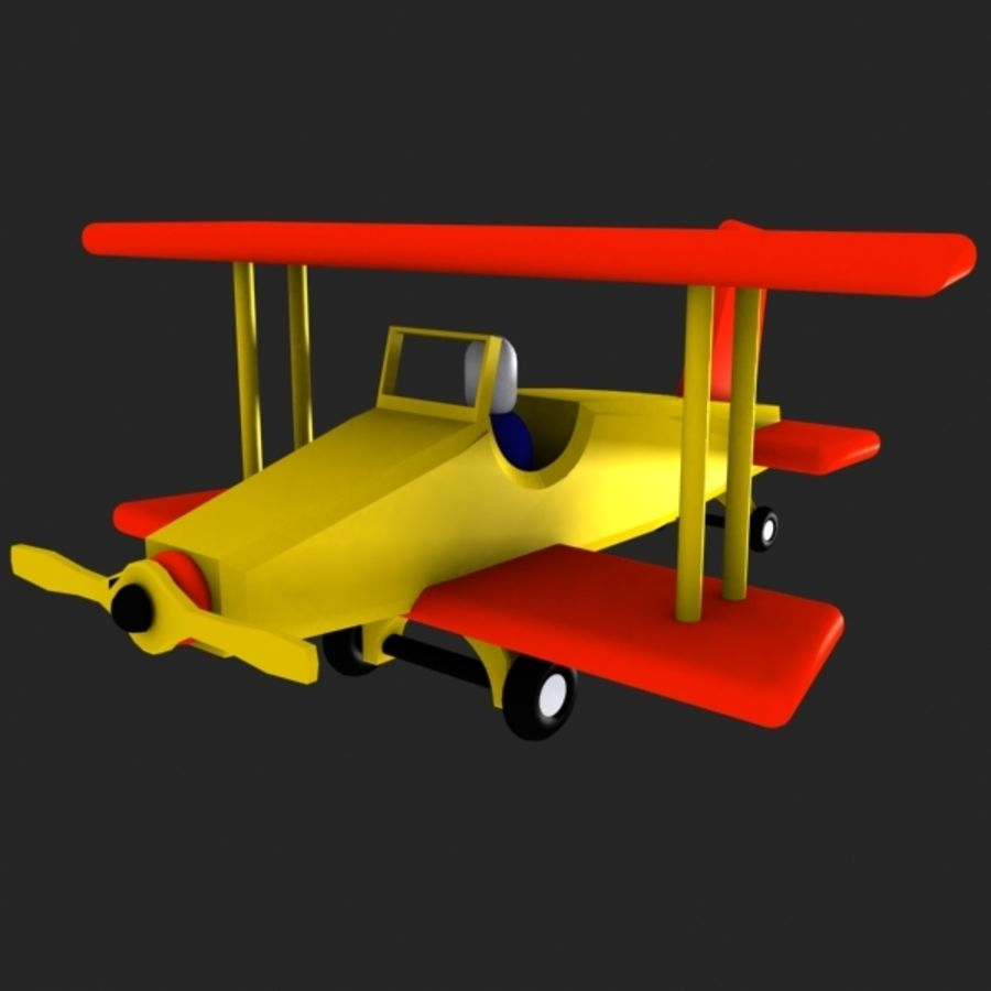 Airplane Toy_01 royalty-free 3d model - Preview no. 2
