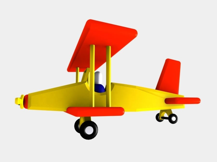 Airplane Toy_01 royalty-free 3d model - Preview no. 7