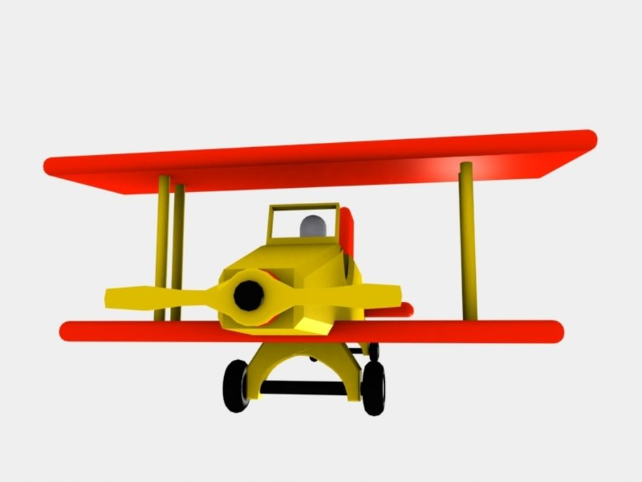Airplane Toy_01 royalty-free 3d model - Preview no. 3