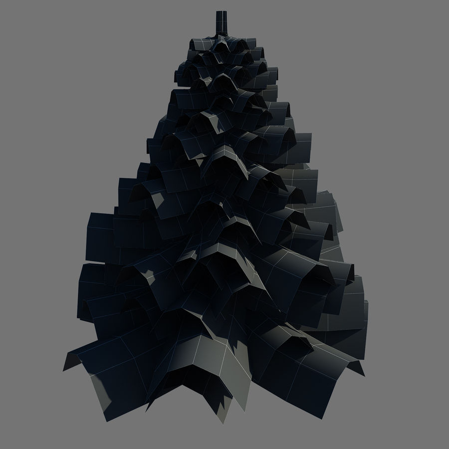 Pine Tree royalty-free 3d model - Preview no. 10