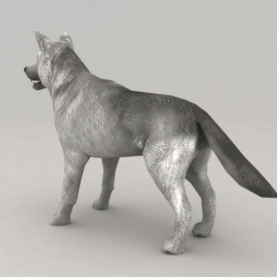 Rigged Wolf royalty-free 3d model - Preview no. 4