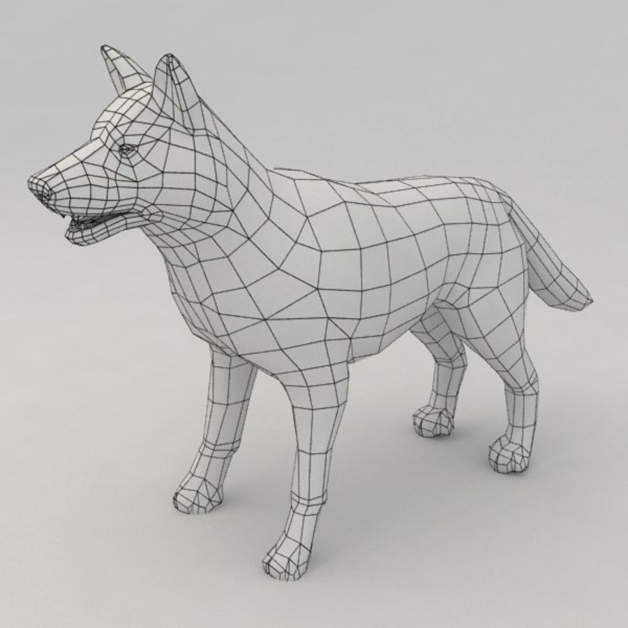 Rigged Wolf royalty-free 3d model - Preview no. 7