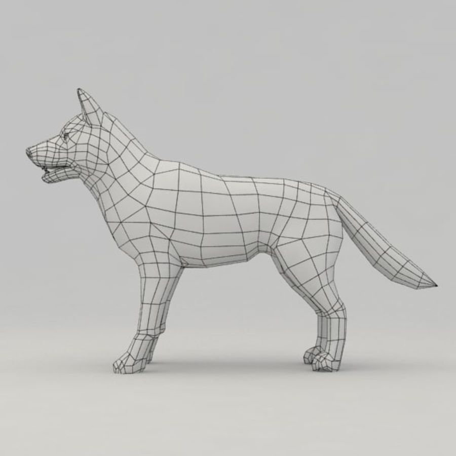 Rigged Wolf royalty-free 3d model - Preview no. 9