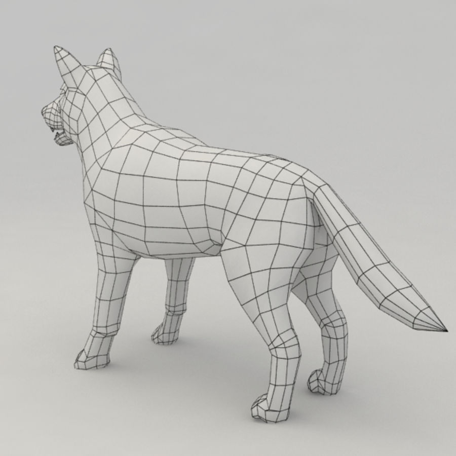 Rigged Wolf royalty-free 3d model - Preview no. 8
