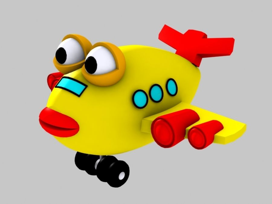 Fish Airplane Toy royalty-free 3d model - Preview no. 7