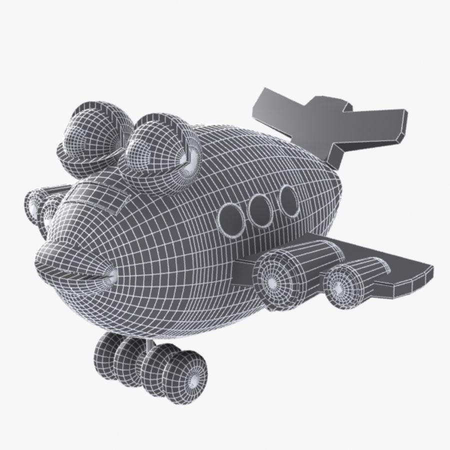 Fish Airplane Toy royalty-free 3d model - Preview no. 9